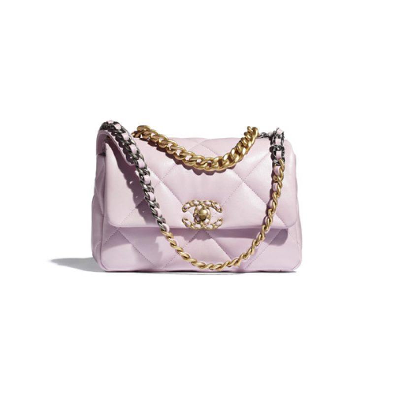 Chanel/香奈儿高仿包包 Chanel亮面皮革款小羊皮 19 手袋