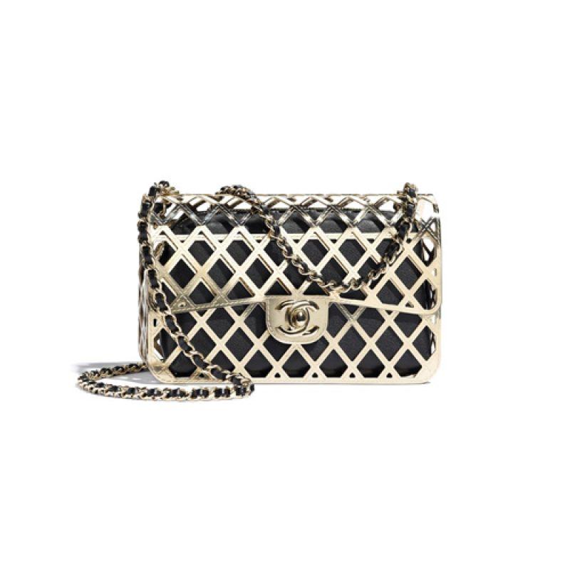 Chanel/香奈儿高仿包包 Chanel金属框包分离款羊皮晚宴包