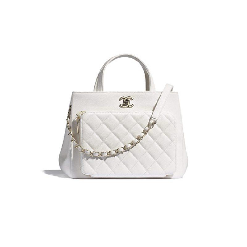 Chanel/香奈儿高仿包包 Chanel小号牛皮手提购物包