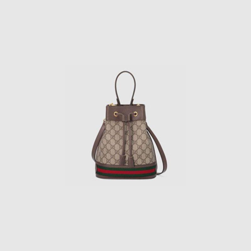 Gucci/古驰高仿包包 Gucci Ophidia系列小号GG水桶包