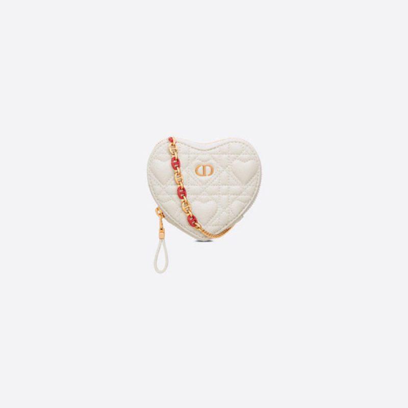Dior/迪奥高仿原单包包 Dioramour系列Dior caro藤格纹心形手拿包