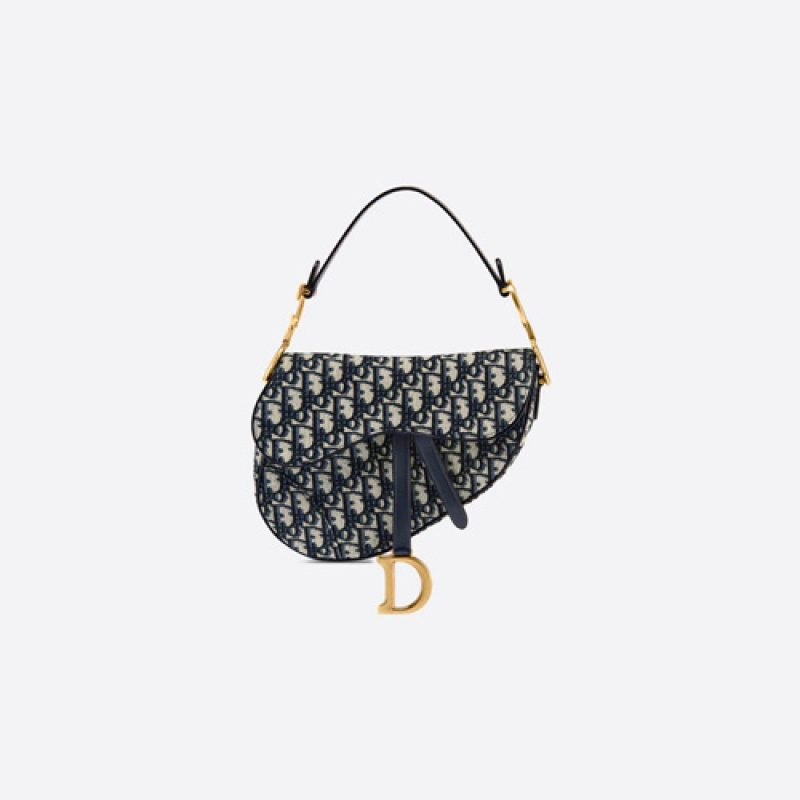 Dior/迪奥高仿原单包包 Dior提花Oblique印花马鞍包