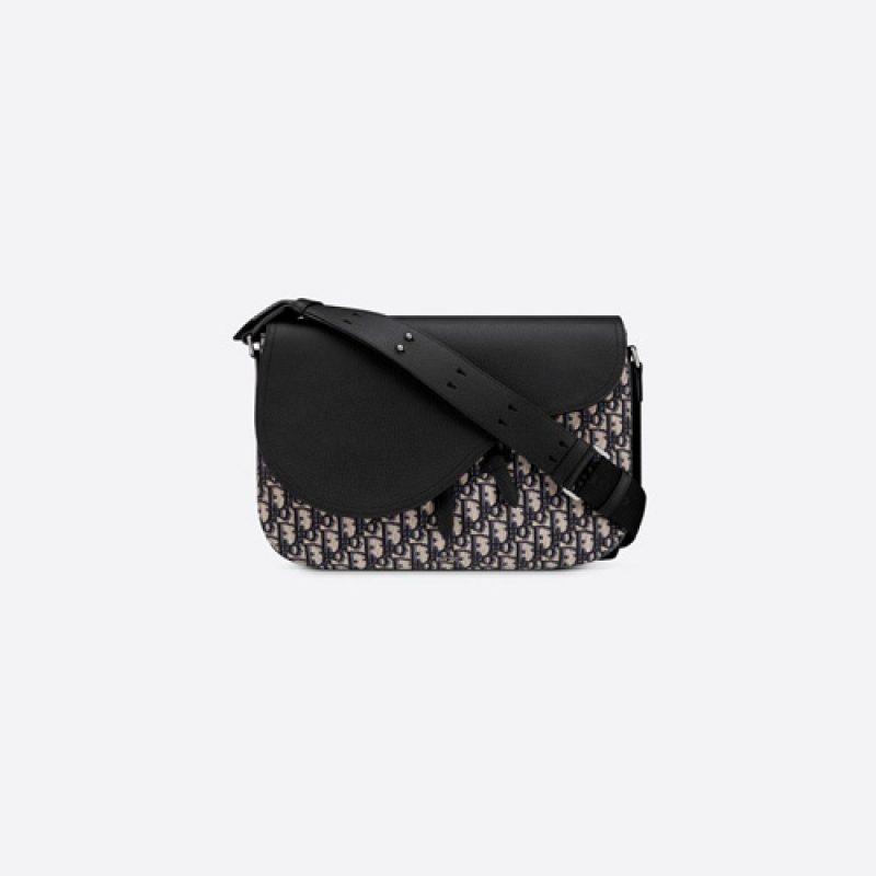 Dior/迪奥高仿原单包包 Dior Oblique印花牛皮马鞍信使包