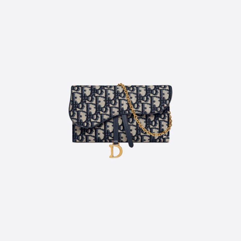 Dior/迪奥高仿原单包包 Dior Oblique 印花马鞍钱包