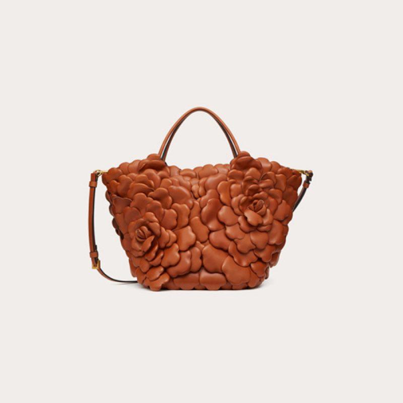 Valentino/华伦天奴高仿包包 3D Rose玫瑰花瓣小牛皮水桶包