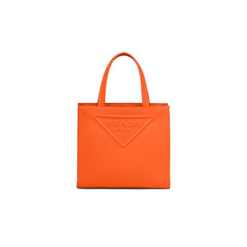 Prada/普拉达高仿原单包包 Prada托特包 斜纹布压花设计