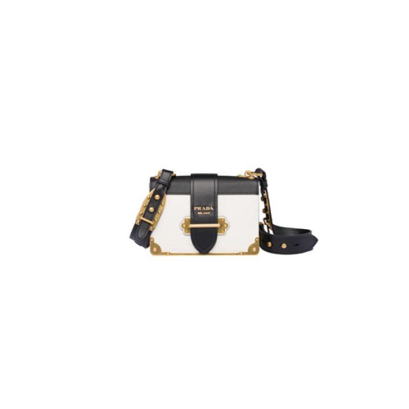 Prada/普拉达高仿原单包包 Prada笔记本手袋 Cahier单肩包