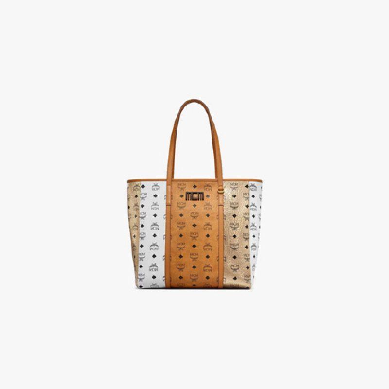 MCM高仿原单包包 MCM Toni Visetos拼接购物袋
