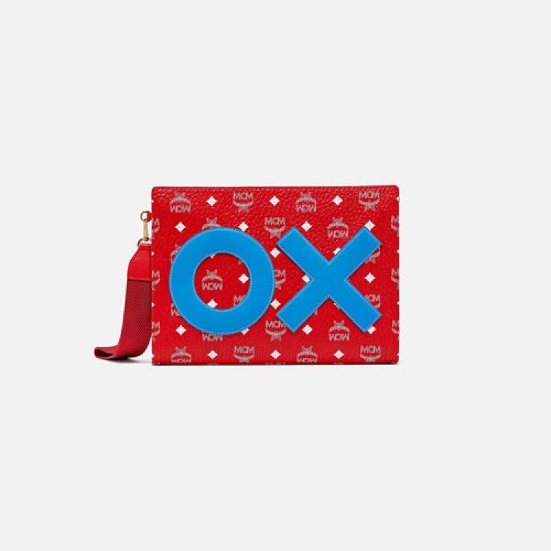 MCM高仿原单包包 MCM Visetos新年OX刺绣手拿包