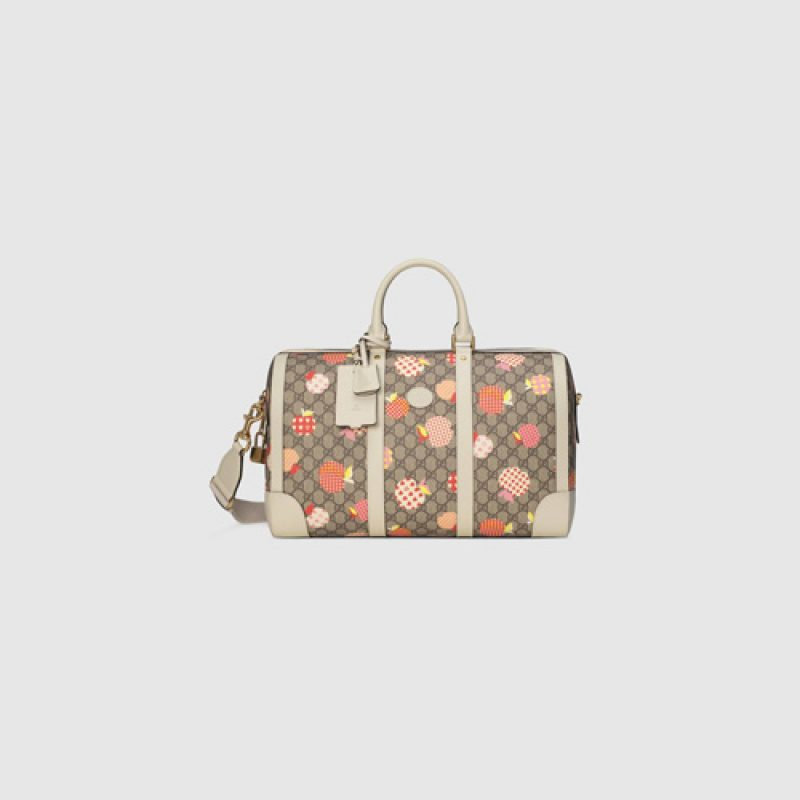 Gucci/古驰高仿包包 Gucci心苹果图案随身手提旅行包