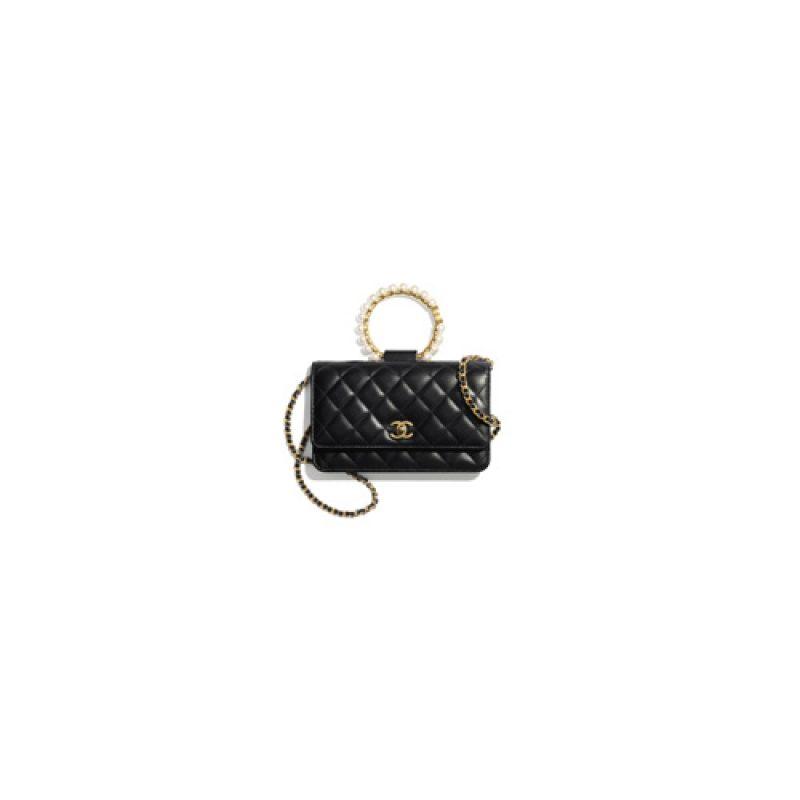 Chanel/香奈儿高仿包包 Chanel珍珠提手Woc链条钱包