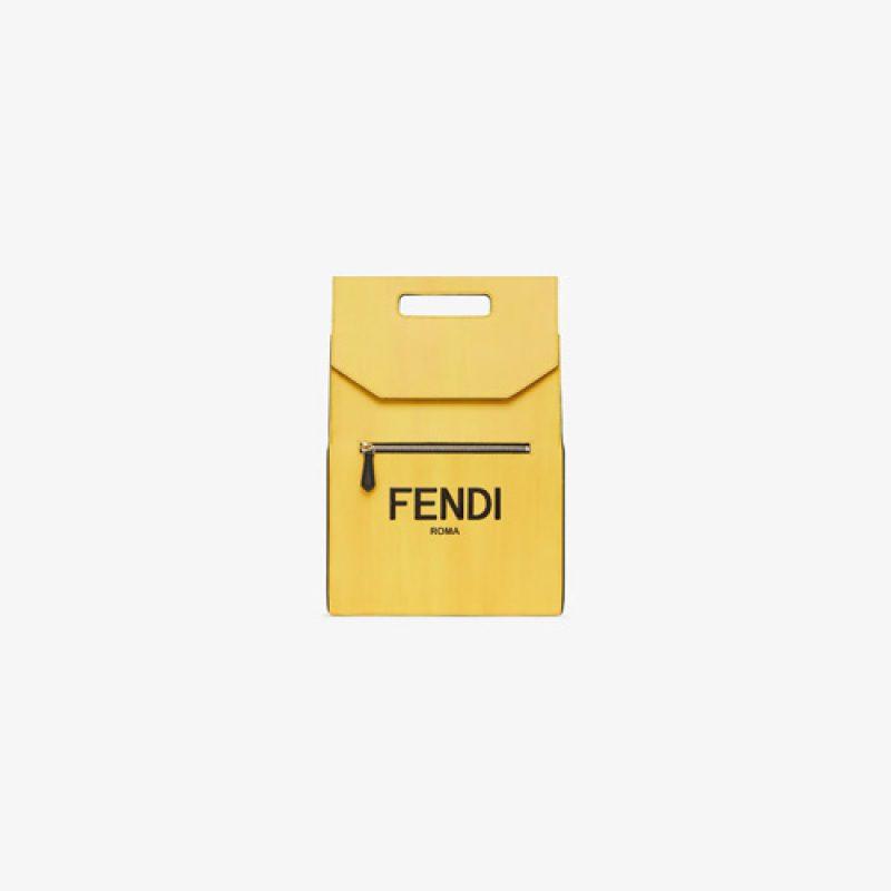 Fendi/芬迪高仿原单包包 FENDI ROMA压花印花可手提背包