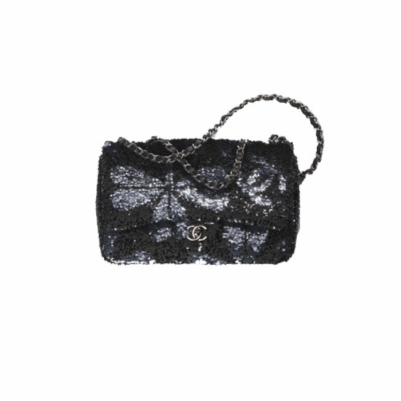 Chanel/香奈儿高仿包包 Chanel蜻蜓/爱心图案亮片口盖包