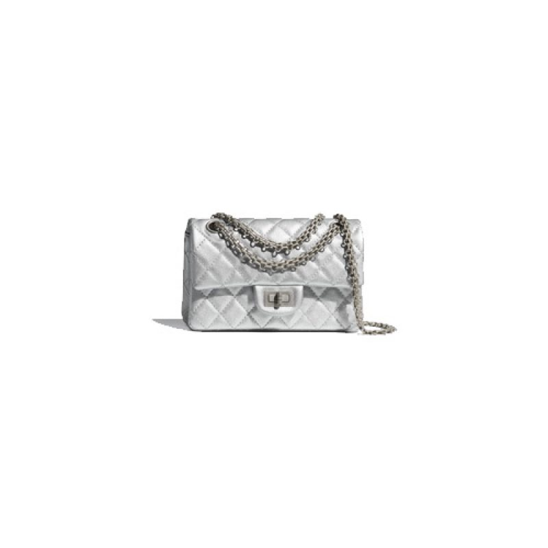Chanel/香奈儿高仿包包 2.55颗粒压花小牛皮口盖包