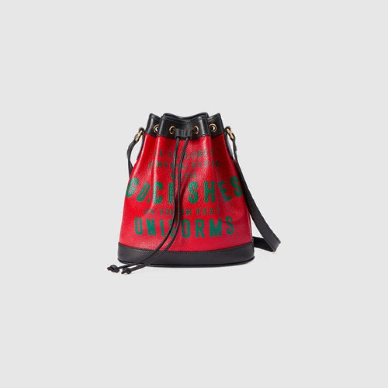 Gucci/古驰高仿包包 Gucci 100特别系列Ophidia歌词印花水桶包